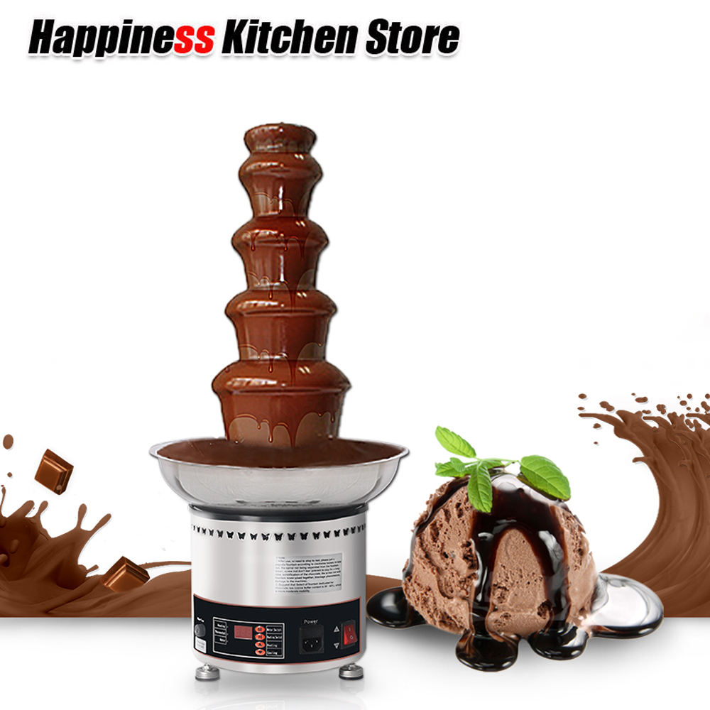New Arrival 5 Layers Chocolate Fountains Waterfall Maker Wedding Party Decoration Commercial Tempering Machine