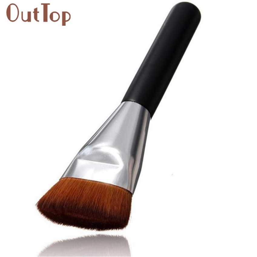 OutTop best seller 1pc Flat Contour Brush Foundation Brush Makeup Brushes Gift New Arrival easy to put on cosmetics X0423 02 025