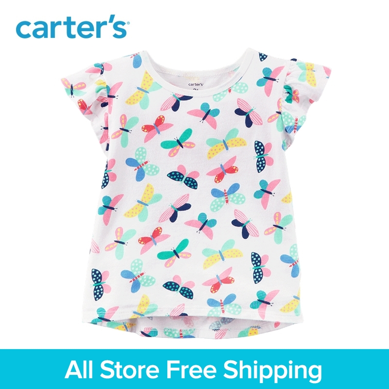 Carters 1-Piece baby children kids clothing Girl Summer Butterfly Hi-Lo Tee 235H327