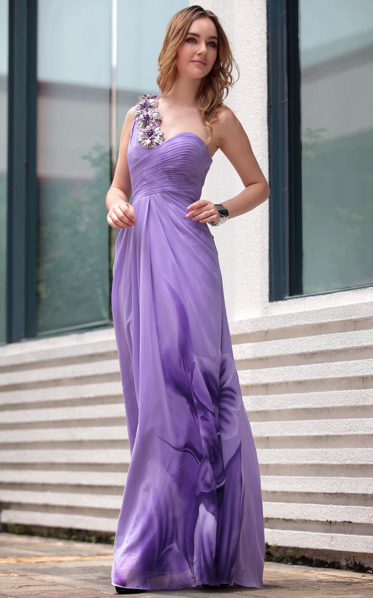 Aliexpress buy dorisqueen one shoulder ruffle floor length aliexpress buy dorisqueen one shoulder ruffle floor length printing open back latest western designs purple long bridesmaids dresses 30657 from ombrellifo Image collections