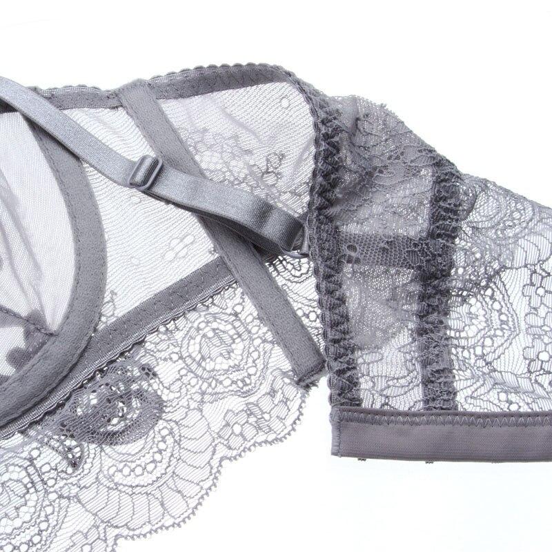 Image 3 - New Gather Adjusted Thin Cup sexy Lingerie Bra Set Underwear Transparent Temptation Sexy Bra Set For Women-in Bra & Brief Sets from Underwear & Sleepwears