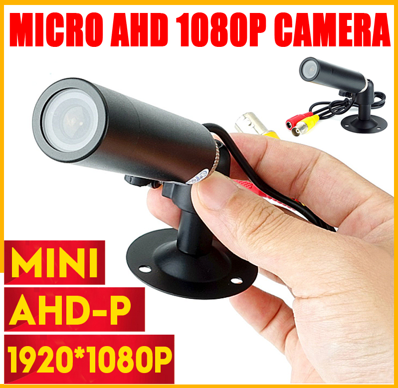 New Super Mini CCTV CAMERA HD AHD 3MP Starlight  Waterproof Micro Surveillance Small Vandal-proof Black Metal Bullet Security