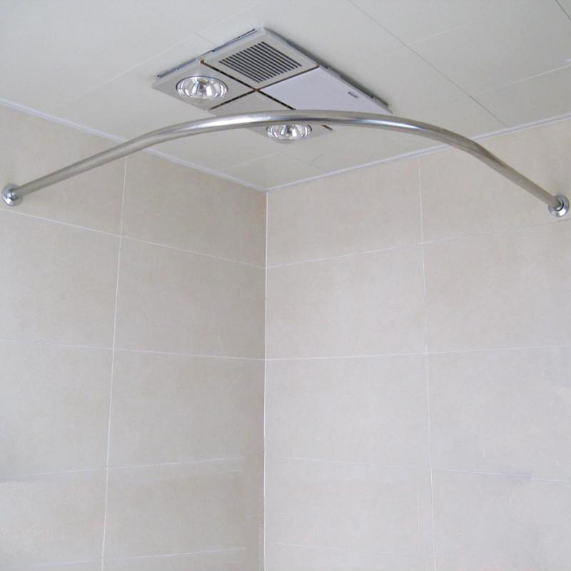 Curved Stainless Steel Retractable Shower Curtain Rod Shower Curtain Rod Telescopic Corner