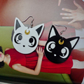 W2794 36 pair/pair Acylic лазерной ювелирные изделия Горячие Супер Милый Мультфильм Форма Симпатичные Сейлор Мун девушки луна cat серьги