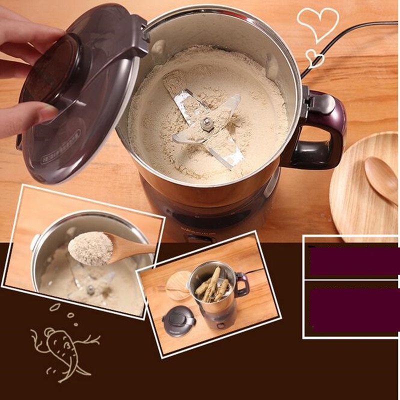 220V Multifunctional Electric Coffee Grinder Ultra Fine Power Grinder Machine Stainless Steel Electric Mixer Blender EU/AU/UK/US цена и фото