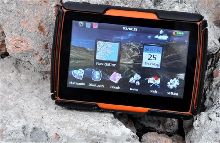 Hot sale 4.3 Inch 8GB 128256 RAM IPX7 Waterproof Moto Bluetooth GPS Navigator for Motorcycle Motorbike Car+Bracket Free Maps (3)