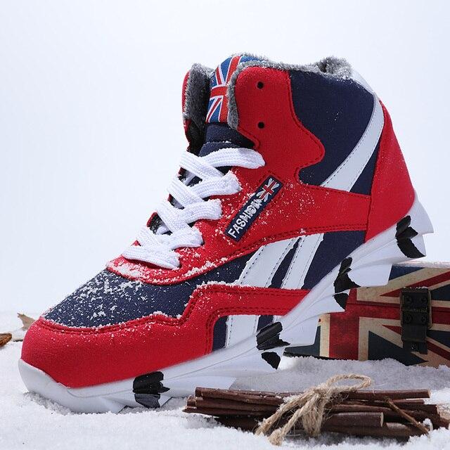 סתיו חורף גברים גופר נעליים חיצוני קטיפה חם שלג נעליים יומיומיות גברים נוח רך ללבוש עמיד פנאי זכר Sneaker