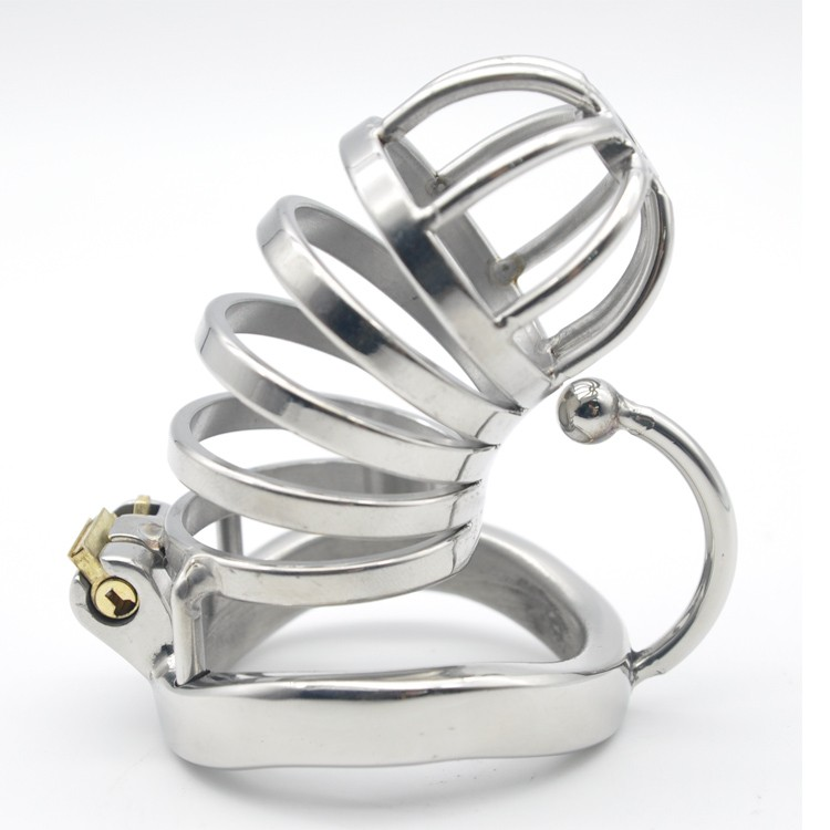 Stainless-Steel-Male-Chastity-Large-Cage-with-Base-Arc-Ring-Devices-C276