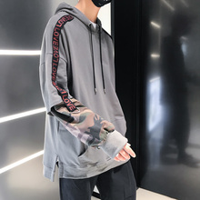 Fashion Casual Men Spring And Autumn New M-5XL Stitching Wild Loose Pullover Dark Gray Black Personality Youth Popular braid psv bent fiber black and gray m 129638