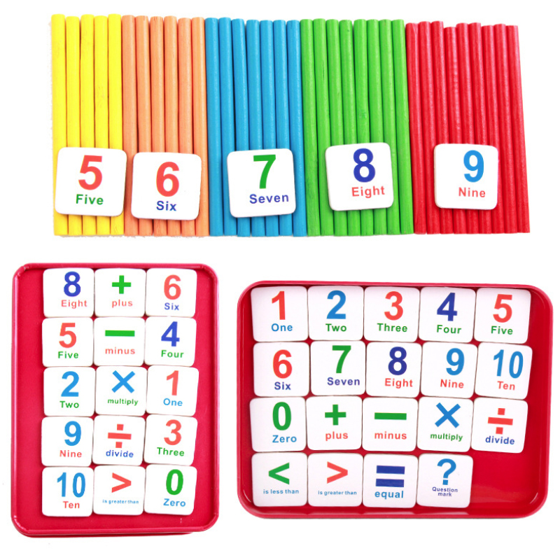 Counting Stick Magnetic Stickers Mathematics Teaching Aid Count Stick for Children Learning Mathematics Arithmetic Teaching Aids