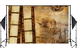 Image 2 - Exquisite Old Wallpaper Wall Painting with Roll Studio Props Photography Background Retro Photo Backdrop 5x7ft
