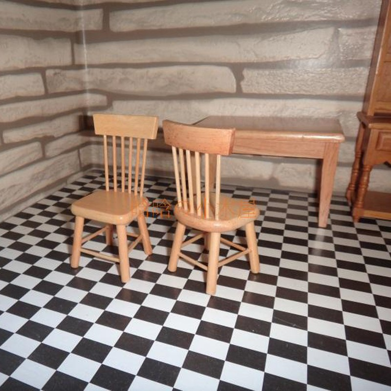 Dining table and chair set doll house 11
