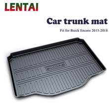 EALEN 1PC rear trunk Cargo mat For Buick Encore 2013 2014 2015 2016 2017 2018 Styling Boot Liner Tray Anti-slip Mat accessories trunk mat for chevrolet cobalt 2013 2015 trunk floor rugs non slip polyurethane dirt protection interior trunk car styling