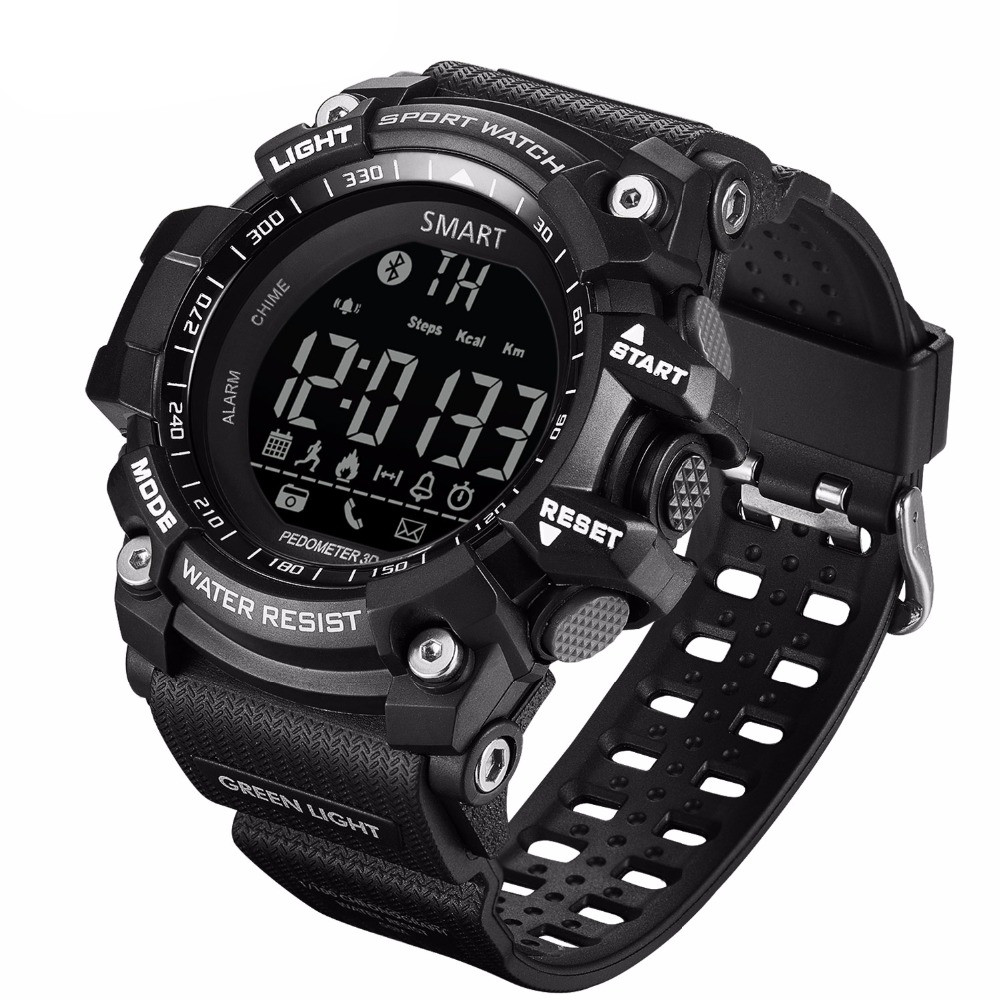 HIWEGO Smart 5ATM Professional Waterproof Smart Watch Bluetooth Sport Watch Podometer Stand-by Time 365 Day Call Reminder CR2032