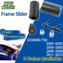 Falling Protection For Suzuki GSXR600 GSXR750 GSXR GSX-R 600 750 No Cut Frame Slider Crash Pads Falling Protector 2001-2006 falling away