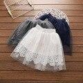 Новая коллекция весна 2017 хан издание девочек кружева белый марли супер красивые юбки