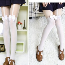 Japanese Style Bow Suspender pantyhose