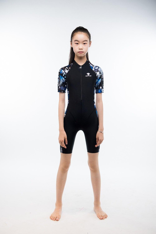 Enfants professionnel séchage rapide Sport Sexy une pièce maillot de bain maillots de bain plage maillots de bain Lycra genou longueur rembourré maillots de bain
