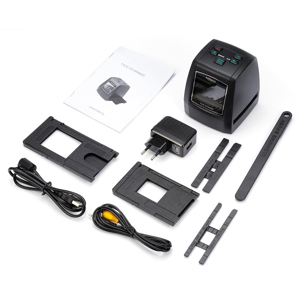 Relliance EC018 Film Scanner High-resolution Film Slide Scanner CMOS 35mm,110/135/126KPK/Super 8 films USB 2.4 TFT LCD Black 21