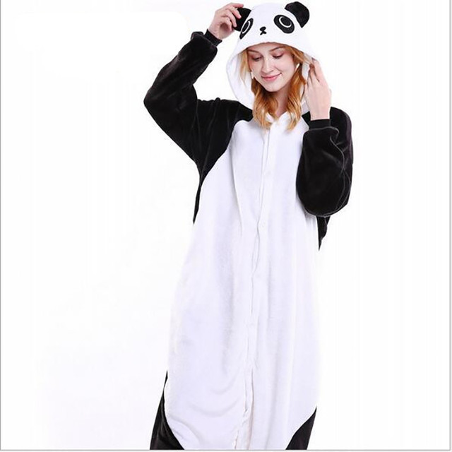 68895ffb86 Oferta specjalna kobiet Panda Zwierząt Kostium Pełna Rękaw Poliester Snu  Salon Śmieszne Onesies Piżamy Kobiet