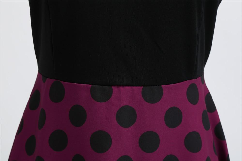 HTB1ARbHbozrK1RjSspmq6AOdFXa5 Women Summer Dresses 2019 Robe Vintage 1950s 60s Pin Up Big Swing Party Work Wear Rockabilly Dress Black Polka Dot Vestidos