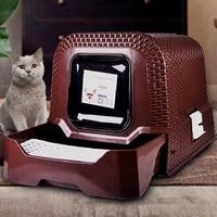 Cat Litter Bowl Anti Splashing Cat Toilet Large Fully Enclosed Cat Deodorant Supplies Cama De Gato Pet Cat Litter Mat House