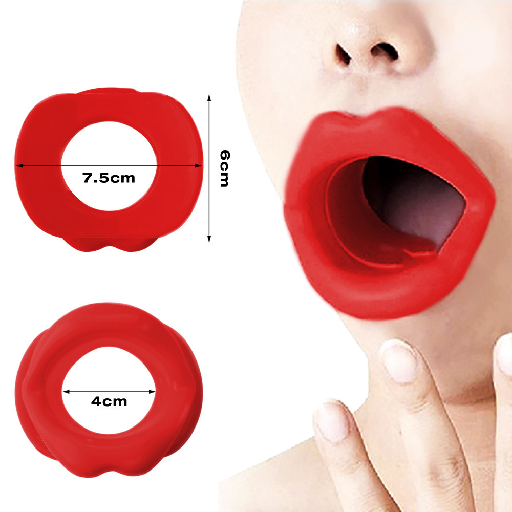Silicone Oral Trainer Tightener Face-lift Slimmer Massage Rubber Face Slim Exerciser Muscle Lip Exerciser Anti-Wrinkle Face Care