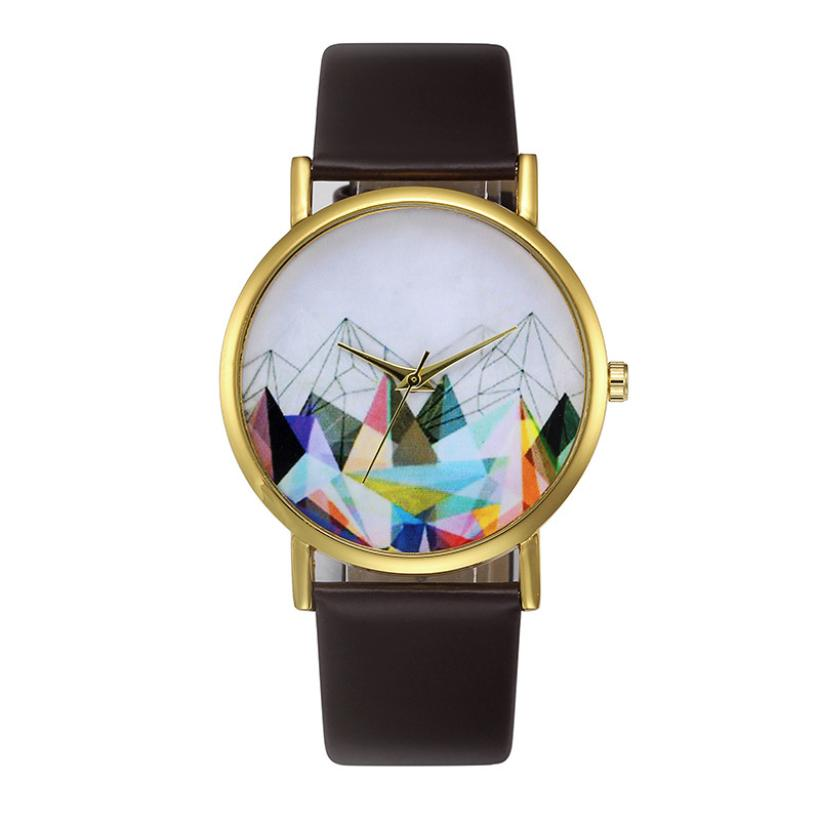Fashion Womens Retro Design Leather Band Analog Alloy Quartz Wrist Watch M5084