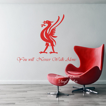 You Will Never Walk Alone Liverpool Wall Sticker Decal Football Club Lyric Inspiration Quote Restroom Living Room Vinyl Decor