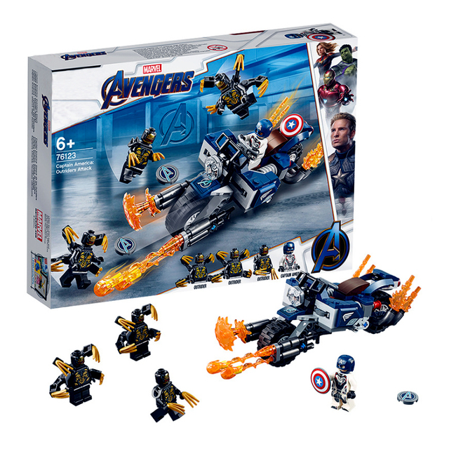Marvel Avengers Super Heroes Captain America:Outriders Attack Figures Building Blocks Bricks Kids Toys Compatible With Legoings