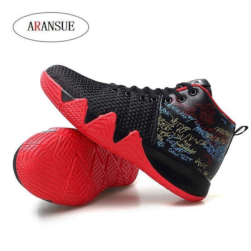 ARANSUE nouvelle vente chaude baskets de loisirs pour hommes antidérapant haute formation chaussures Graffiti design couleur Pure chaussures de marche en plein air