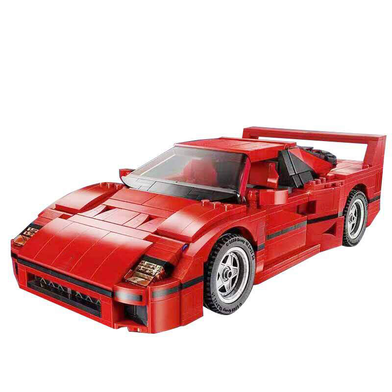 ФОТО 21004 F40 Sports Car Model building kits  city 3D blocks Educational toys hobbies for children