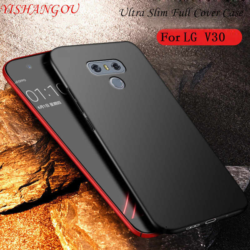 YISHANGOU Phone Case For LG V10 V20 V30 G3 G4 G5 G6 G7 Hard Plastic Matte Cases For LG G7 Q6 Q7 Q8 Full Cover Protective Coque