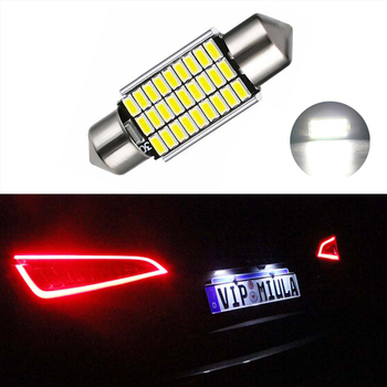 BOAOSI 1x Canbus No Error 36MM C5W LED License Plate Light For Mercedes Benz W208 W209 W203 W169 W210 W211 W212 AMG CLK image