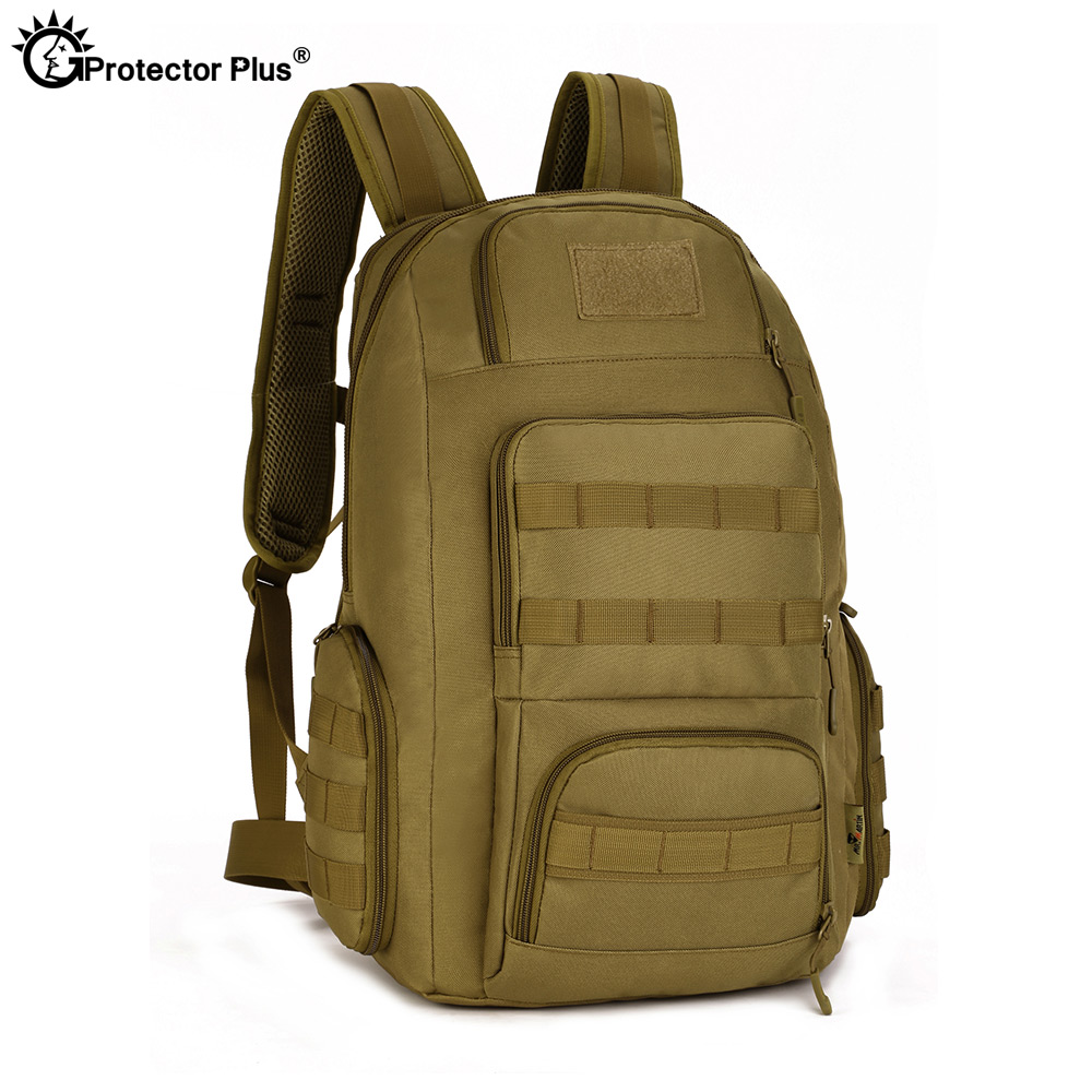 PROTECTOR PLUS Tactical Backpack 14 Inches Loptop Men Military MOLLE 40L High Capacity Rucksack Outdoor Waterproof