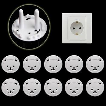 10pcs Bear EU Power Socket Electrical Outlet 1
