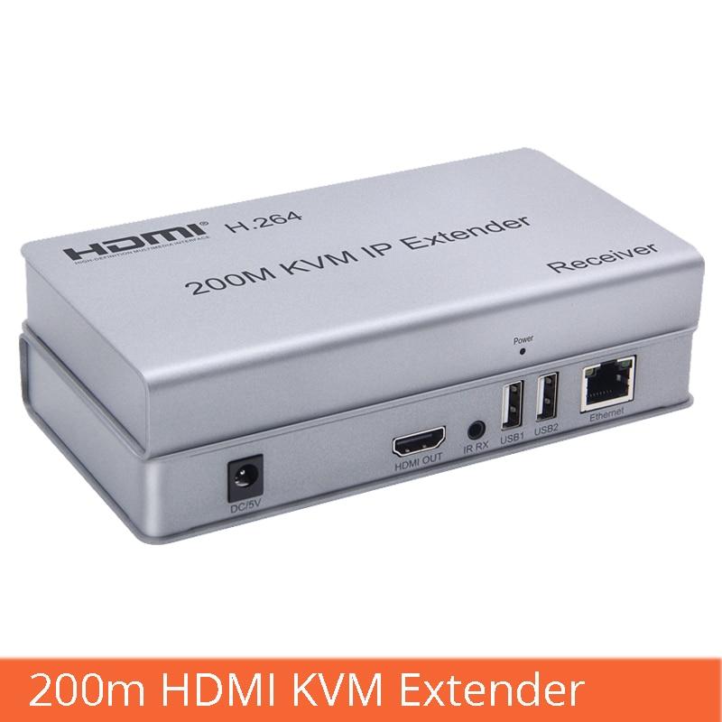 Hdmi kvm extender 200 m hdmi to RJ45 สายเคเบิลเครือข่ายขยายการส่งผ่านอินเทอร์เฟซ USB แป้นพิมพ์เมาส์-ใน สายเคเบิลคอมพิวเตอร์และขั้วต่อ จาก คอมพิวเตอร์และออฟฟิศ บน AliExpress - 11.11_สิบเอ็ด สิบเอ็ดวันคนโสด 1