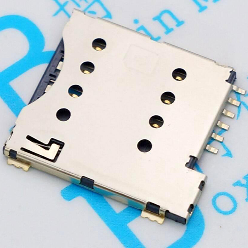 Mobile Phone SIM Card Socket MICRO SIM Card Socket From The Bomb SIM Card Slot 6P PUSH