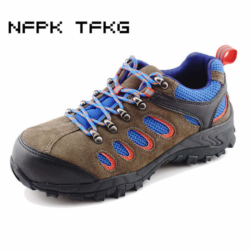 high quality men casual steel toe cap work safety tooling shoes nubuck cow suede leather non