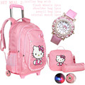 Hello kitty school bags for girls rolling children backpack travel trolley bag school backpacks wheels bolsas mochilas femininas