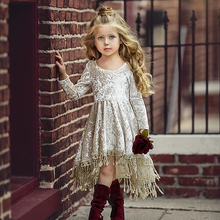 BFORTUNE Kids Dresses for Girls Summer Dress Princess Wedding Party Children Clothes Long Sleeve Bobe Fille Fantasia Infantil