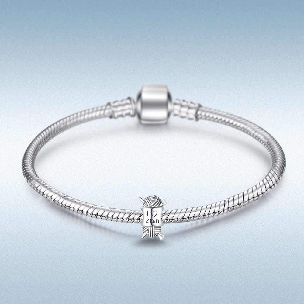 JewelryPalace Love ถัก 925 เงินสเตอร์ลิงลูกปัดเงิน 925 สำหรับสร้อยข้อมือเงิน 925 สำหรับเครื่องประดับทำ