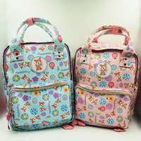 Animated cartoon bambi tsum around girls PU waterproof cute pink students backpack book backpack shoulder bags
