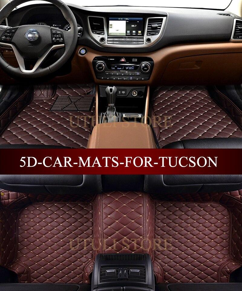 Tapetes de cuero para el auto para Hyundai Elantra Santa Fe Sonata - Accesorios de interior de coche - foto 2