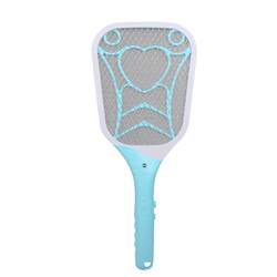VICTMAX USB Rechargeable Electric Mosquito Flying Swatter Bug Zapper Racket with LED Illumination New - Sky Blue