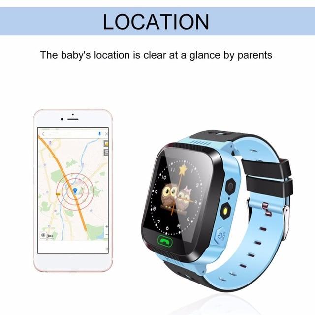 Smart Watch Kids Wristwatch Touch Screen GPRS Locator Tracker Anti-Lost Smartwatch Baby Watch With Remote Camera SIM Calls 6
