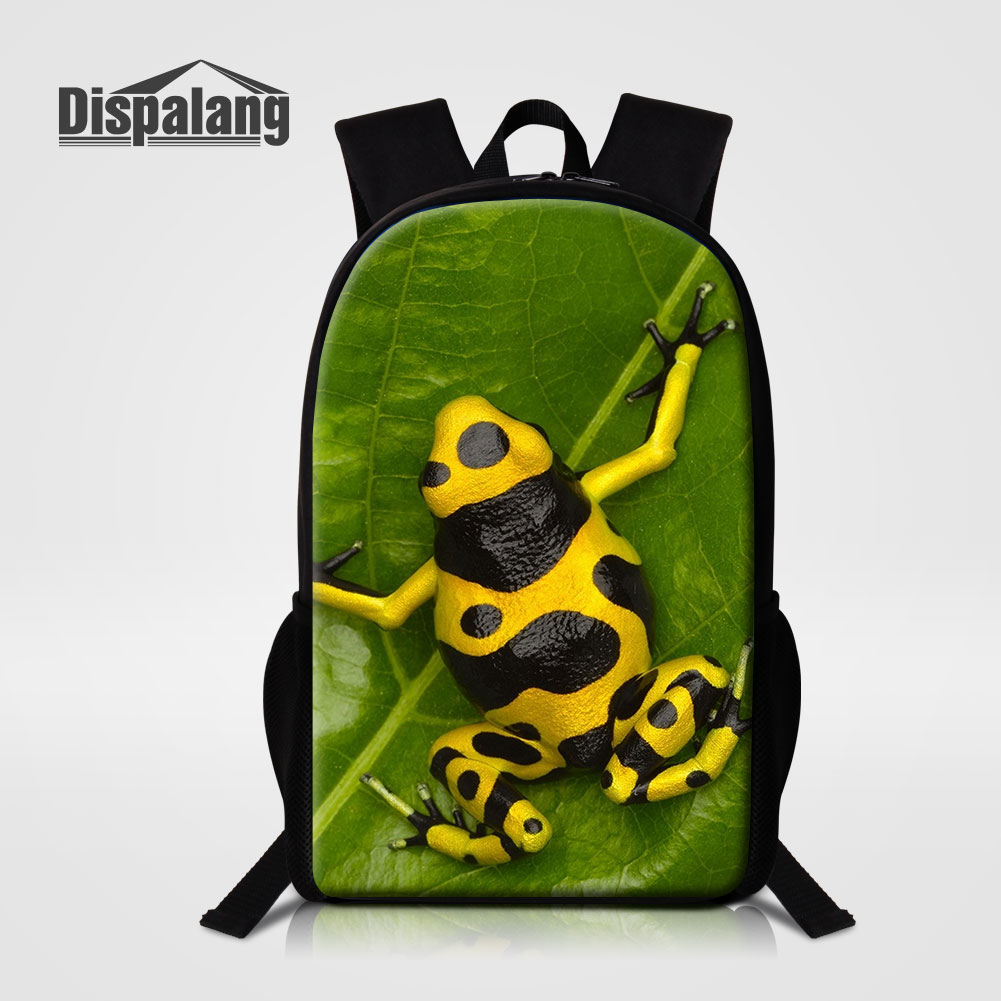 Dispalang Cute Frog Animal Printing School Bags For Primary Students Female Travel Rucksack Children Schoolbags Backpack Mochila