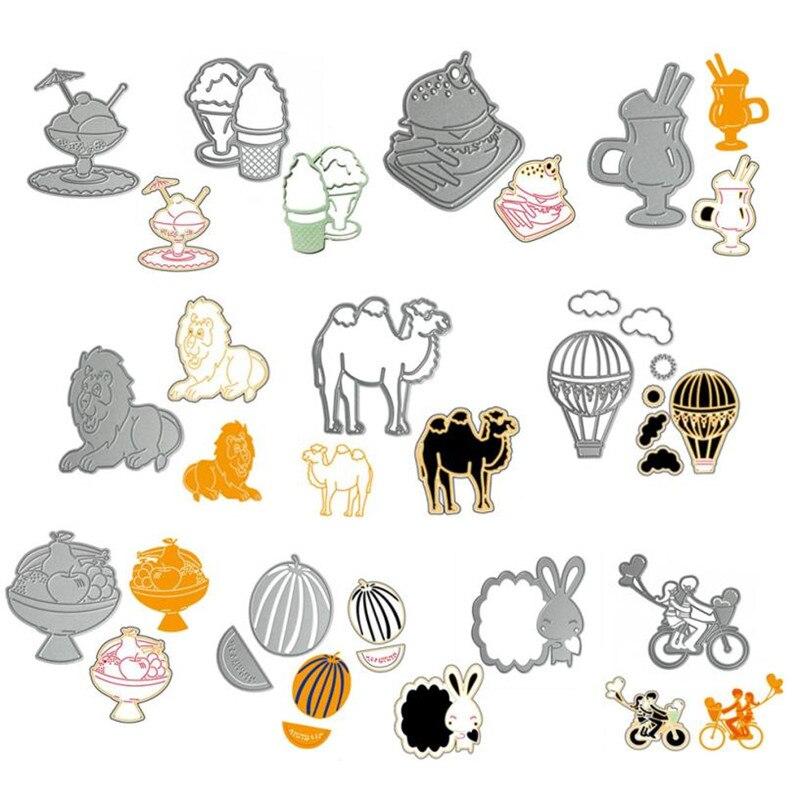 Anima Kamel/Kaninchen/Lion Decor Stanzformen Stencil mold DIY Scrapbooking Präge Album Papier Karte...