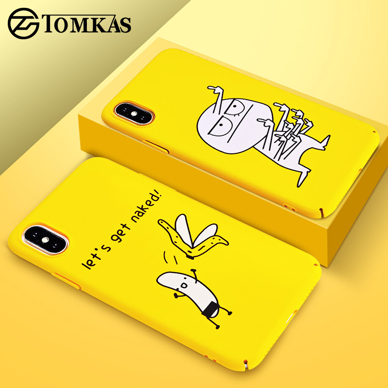 TOMKAS BAD BOY Phone Case for iPhone XS X XS Max XR Case Yellow Cover Funny Banana Cute Cases for iPhone 7 8 6 S 6S Plus Coque чехлы марвел