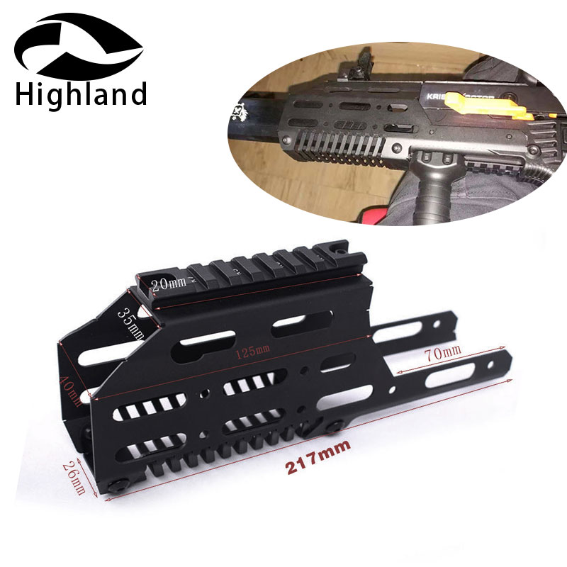 Hunting Airsoft LeHui KRISS VECTOR V2 Drop In Free Float handguard Sight Scope Mount with 20mm